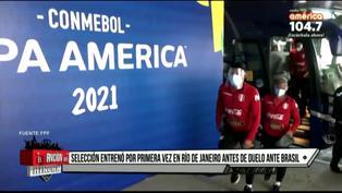 Selección peruana empieza su primer entrenamiento en Río de Janeiro