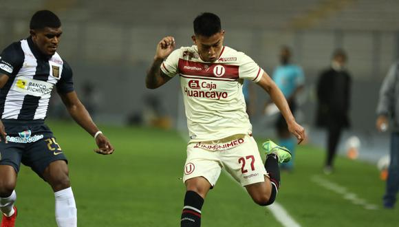 Nelson Cabanillas anotó su primer gol como profesional ante Alianza Lima. (Foto: Universitario de Deportes)