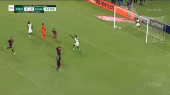 Hector Herrera scored 3-0 against Mexico.  Nigeria for international friendship.  (Video: TUDN)