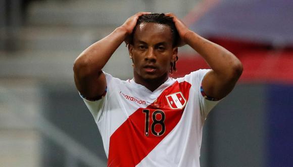 André Carrillo en riesgo de llegar a la fecha triple (Foto: EFE)