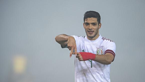 Raúl Jiménez anotó el primer gol del partido. (Foto: @miseleccionmx)