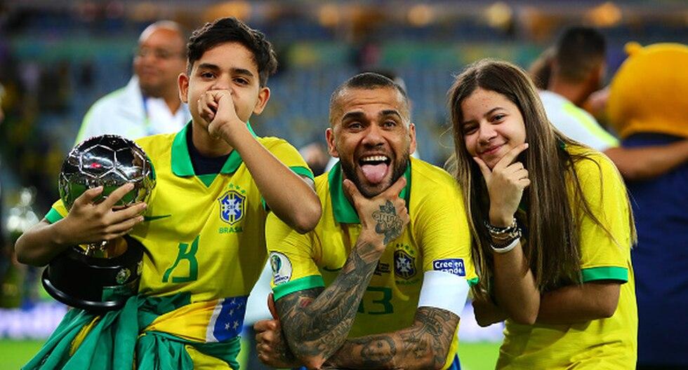 Dani Alves ganó la Copa América de Brasil. (Foto: Getty Images)