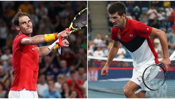Rafael Nadal es el actual número uno de la ATP; Novak Djokovic, es el segundo. (Getty Images)