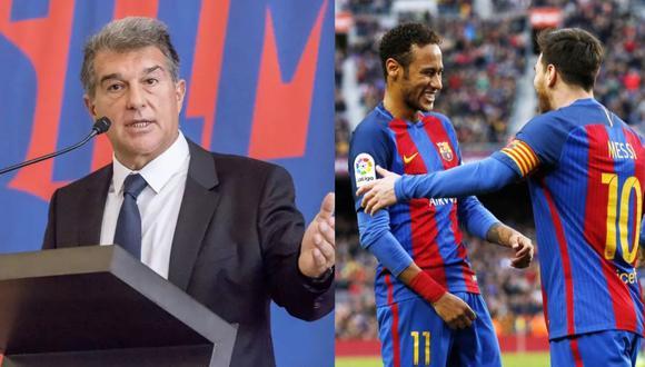 Joan Laporta respondió a las declaraciones de Neymar. (Reuters)