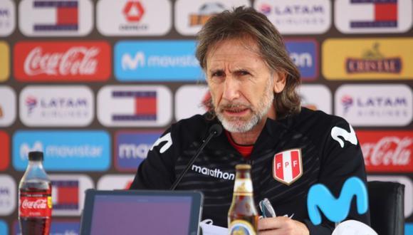 Ricardo Gareca dará conferencia de prensa a un día del debut ante Brasil. (Foto: FPF)