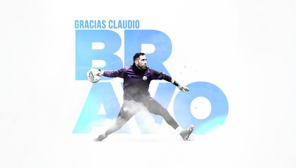 Manchester City oficializó la salida de Claudio Bravo. (Foto: @ManCityES)