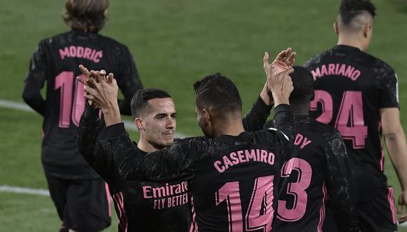 Real Madrid vs. Valladolid se vieron las caras este sábado por la fecha 24 de LaLiga Santander 2021 (Foto: Getty Images)