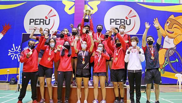 'Team Perú' se coronó campeón sudamericano de Bádminton. (Foto: Legado Lima 2019)