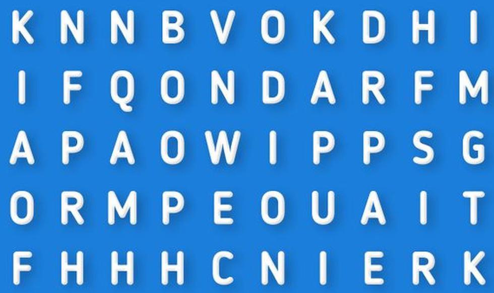Halla la palabra oculta en esta sopa de letras que es tendencia en redes sociales (Foto: Facebook)