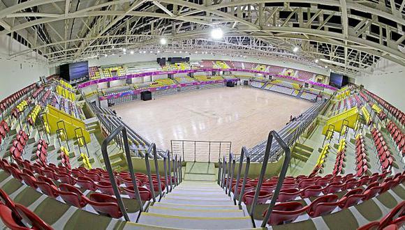 Polideportivo de Villa El Salvador se encuentra listo para el inicio de la Liga Nacional de Vóley. (Lima 2019)