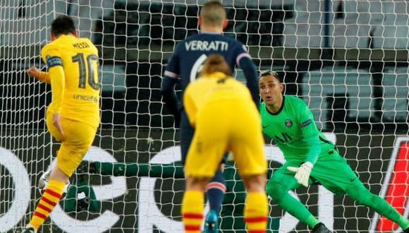 Keylor Navas le frenó un penal a Lionel Messi en la vuelta de octavos de final de la Champions League. (Foto: EFE)