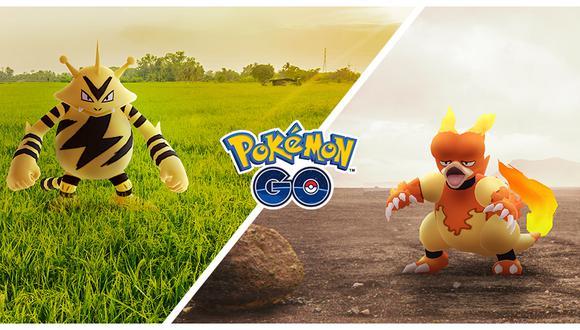 Pokémon GO programa dos 'Días de la Comunidad' en noviembre con Electabuzz y Magmar. (Foto: Niantic)