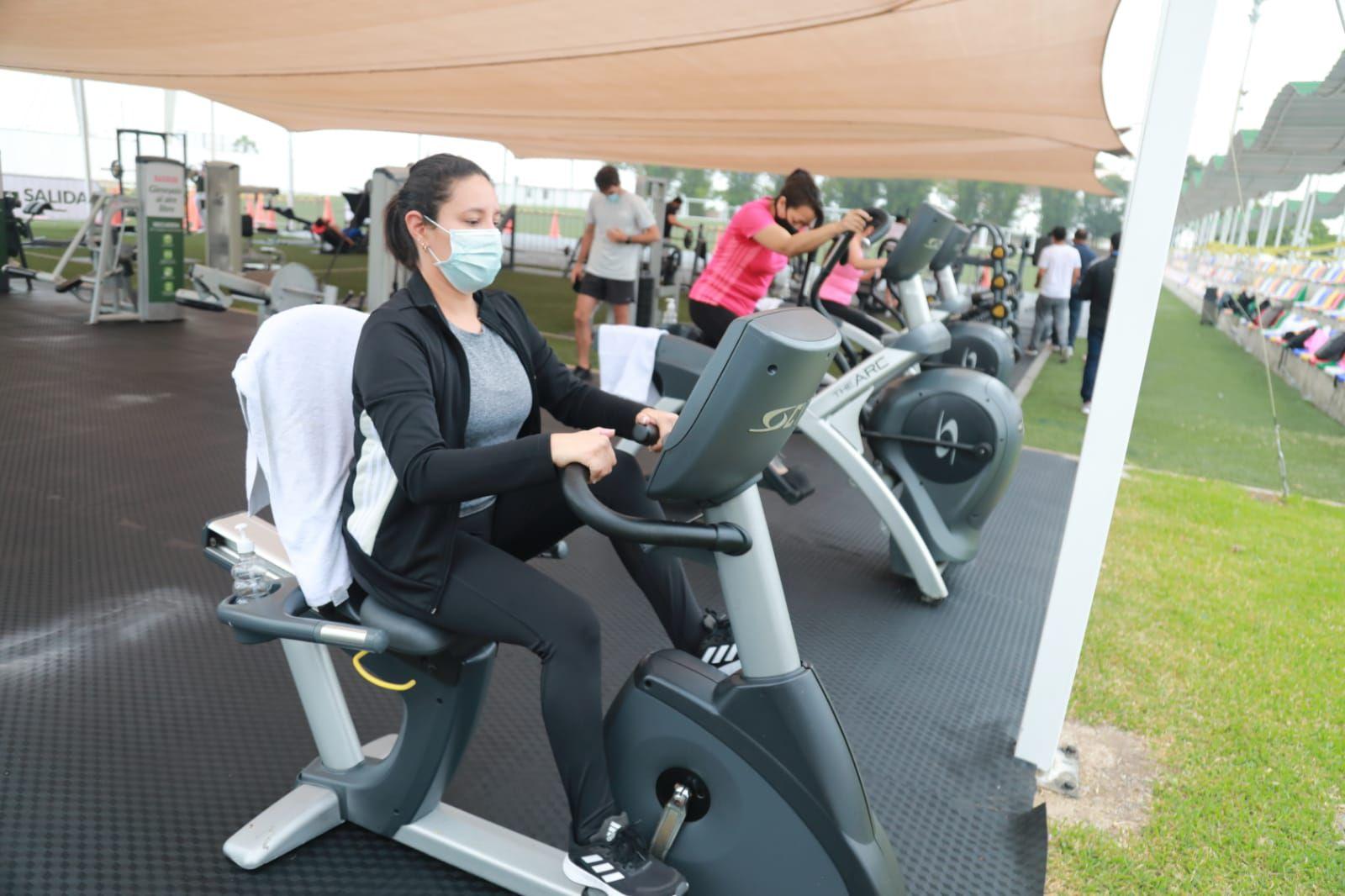 Gimnasio al aire libre cumple con las medidas de bioseguridad por lo que el aforo será reducido. (Foto: Municipalidad de San Isidro)
