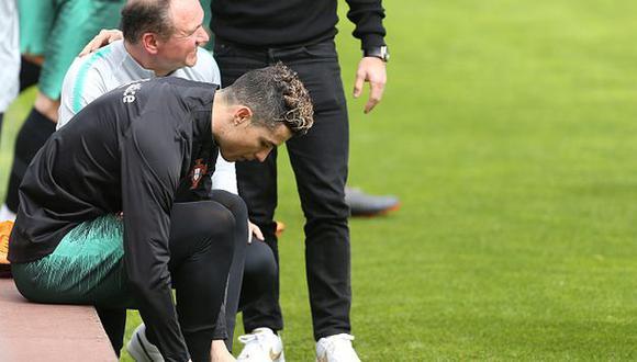 Cristiano Ronaldo entrena con Portugal de cara a la fecha FIFA. (Foto: Getty)
