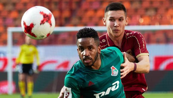 Jefferson Farfán reapareció con un gol y le dio el empate al Lokomotiv ante Ufa. (Foto:Getty Images)