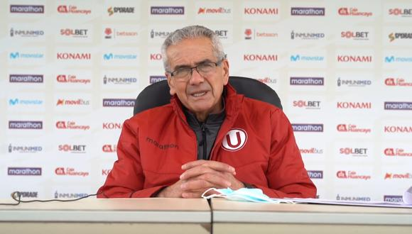Gregorio Pérez dio conferencia de prensa y dio un análisis del presente de Universitario. (Foto: Facebook)