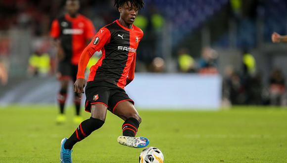 Eduardo Camavinga juega en el Rennes y es una de las jóvenes promesas del fútbol francés en la temporada. (Foto: Getty Images)
