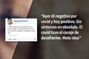 Zlatan Ibrahimović anuncia que padece COVID-19