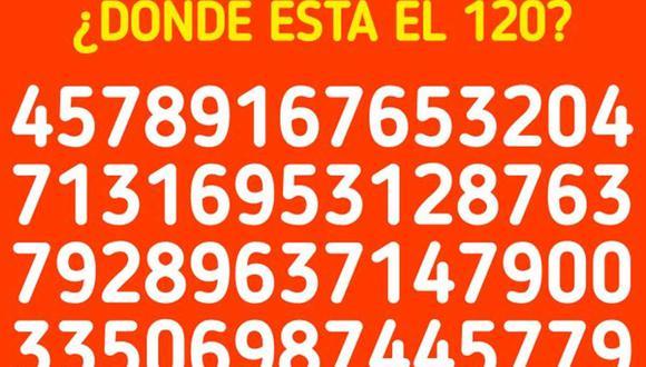 ¿Puedes ver dónde está el número 120 en la imagen? Muy pocos lograron resolver este acertijo lógico.   Foto: genial.guru
