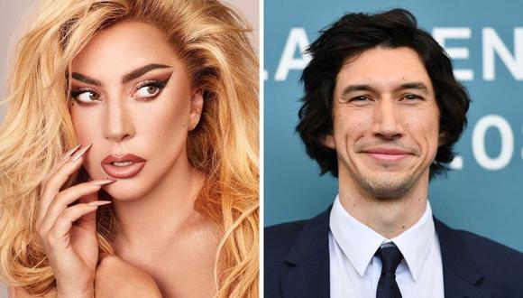"""Lady Gaga dejó ver la primera imagen de """"House of Gucci"""", cinta que protagoniza con Adam Driver. (Foto: Instagram / @ladygaga / AFP Alberto Pizolli)"""