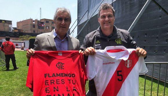 El gesto de la Selección Peruana con Flamengo. (Foto: Prensa Flamengo)