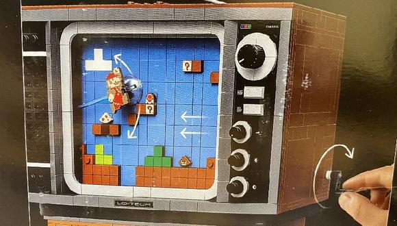 """Nintendo y LEGO anuncian nuevo set con un televisor en el que podrás """"jugar"""" Super Mario Bros."""