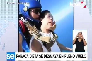 Joven vive vergonzoso momento al practicar paracaidismo
