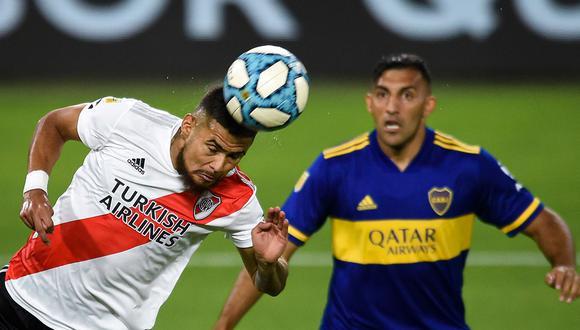 Boca vs River juegan en La Bombonera por la Copa Maradona. El partido se transmite vía TNT Sports y aquí puedes seguir minuto a minuto el partido de fútbol en vivo. (Foto: AFP)