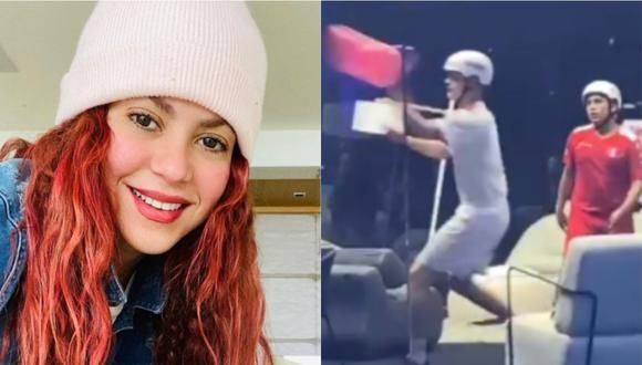 Shakira alienta a Perú en el primer Mundial de los Globos. (Foto: @shakira)