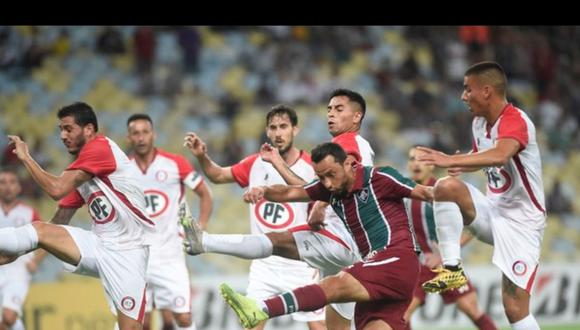 La Calera arrancó empate de 1-1 a Fluminense en Rio por la ida de la primera fase de la Sudamericana