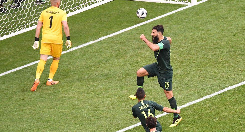 Perú vs. Australia juegan el último partido del grupo C de Rusia 2018. (Foto: AFP)