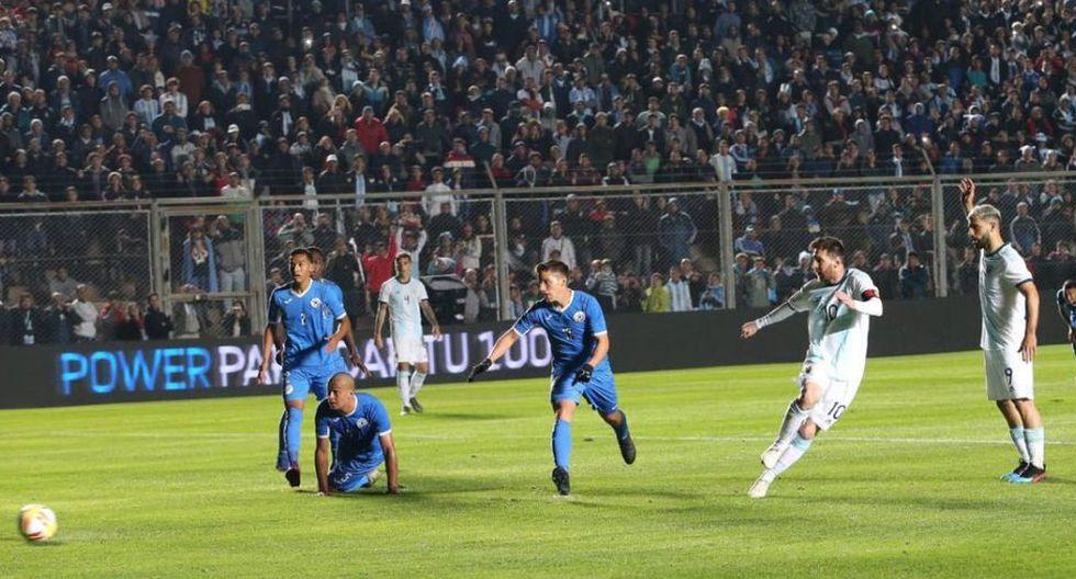 Argentina venció a Nicaragua en San Juan y quedó lista para el debut en Copa América 2019. (AFA)