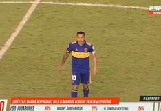 Carlos Tevez y su reacción contra dos goles a Boca Juniors [VIDEO]