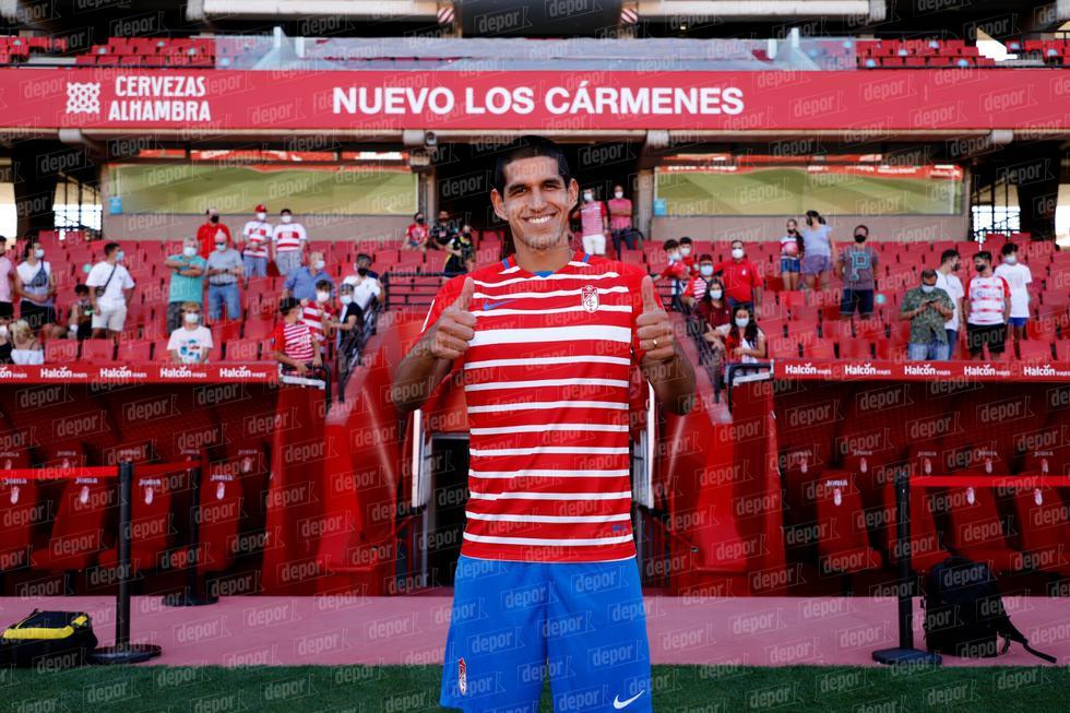 Luis Abram fue presentado como nuevo jugador del Granada CF. (Foto: Francisco Neyra / GEC)