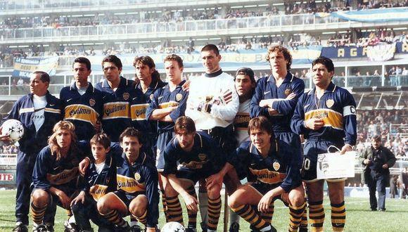 Nolberto Solano junto a Juan Román Riquelme. (Internet)