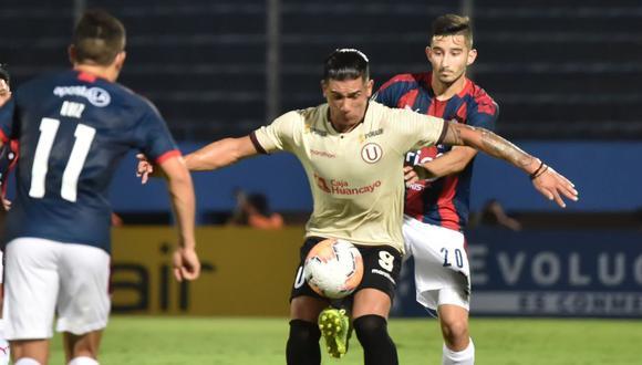 Universitario perdió 1-0 ante Cerro Porteño por Copa Libertadores. (AFP)