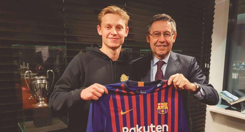 Frenkie de Jong fue anunciado como fichaje de Barcelona en enero. (Foto: EFE)