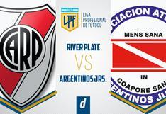 River vs. Argentinos Jrs. EN VIVO hoy: TV y canales para ver partido por la Liga Profesional