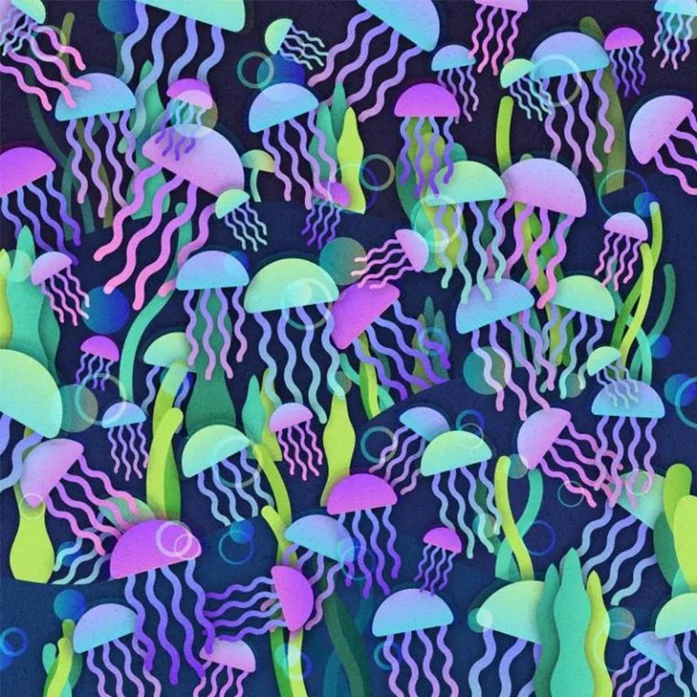 Mira el reto visual medusas y dinos si puedes dar con el hongo camuflado. (Mdzol)
