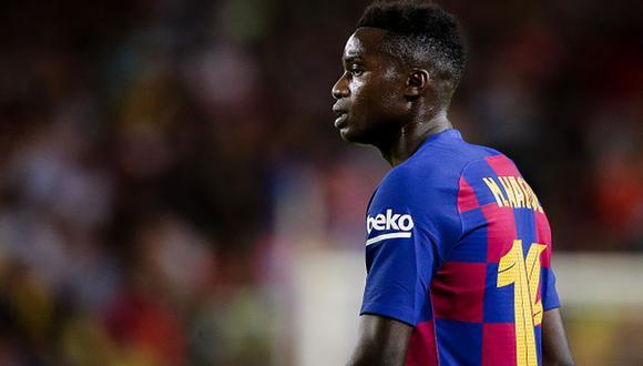Moussa Wagué jugó la temporada pasada cedido en el Niza de Francia. (Foto: AFP)