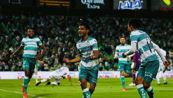 Doblete de Eduardo Aguirre para el 2-0 del Santos Laguna vs. Puebla por la Liguilla MX 2021 (Foto: @ClubSantos)