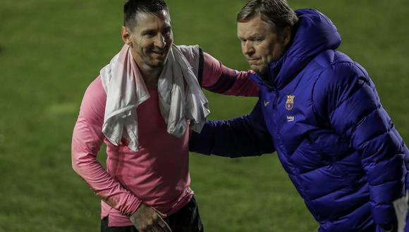 Ronald Koeman habló sobre el futuro de Lionel Messi en Barcelona. (Foto: AP)