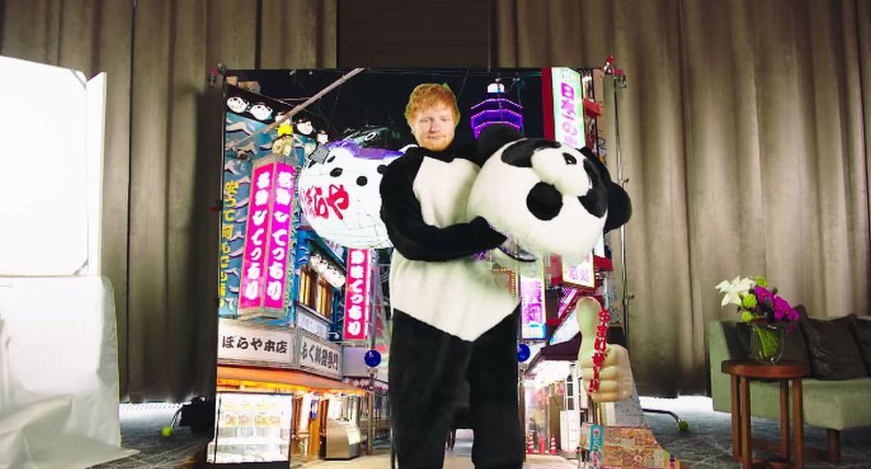 "Ed Sheeran compartió el divertido detrás de cámaras del videoclip de ""I Don't Care"" junto a Justin Bieber. (Foto: Captura de YouTube)"