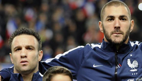 Karim Benzema y Mathieu Valbuena fueron compañeros en la Selección de Francia desde mediados de 2010 hasta agosto del 2015. Tras el escándalo, ambos dejaron de ser convocados por Didier Deschamps. (PA)