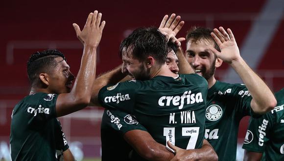 Palmeiras ganó 3-0 a River Plate  de visitante y está muy cerca de clasificar a la final de la Copa Libertadores. El próximo 12 de enero se juega la vuelta de la llave. (Foto: AFP)