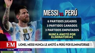 Lionel Messi nunca ha podido anotar a la selección peruana por Eliminatorias