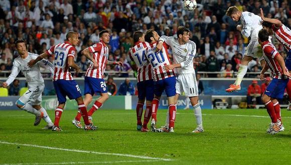 Minuto 93. Sergio Ramos anota de cabeza el 1-1 en el arco del Atlético Madrid y consigue que la final de la Champions League 2013-2014 se prolongue hasta la prórroga. (Foto: sergioramos.com)