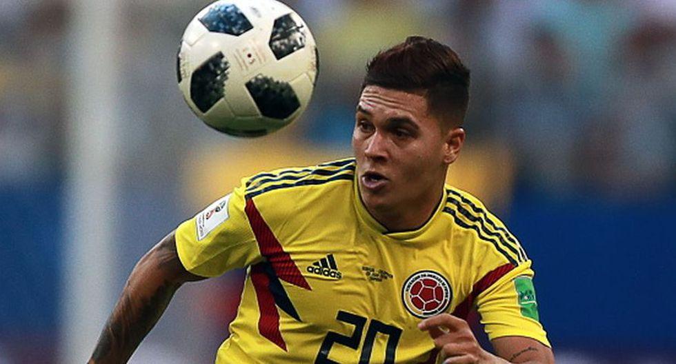 Juan Fernando Quintero marcó el primer gol de Colombia en Rusia 2018. (Getty)