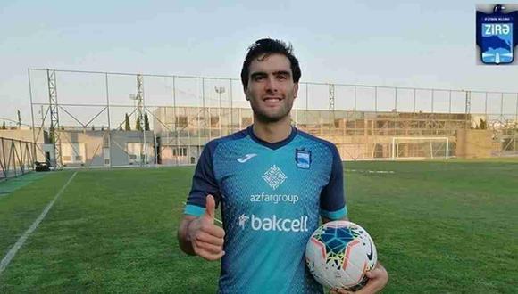 Álvaro Ampuero ya tuvo su primer día en Zira FK de Azerbaiyán. (Foto: Zira FK)