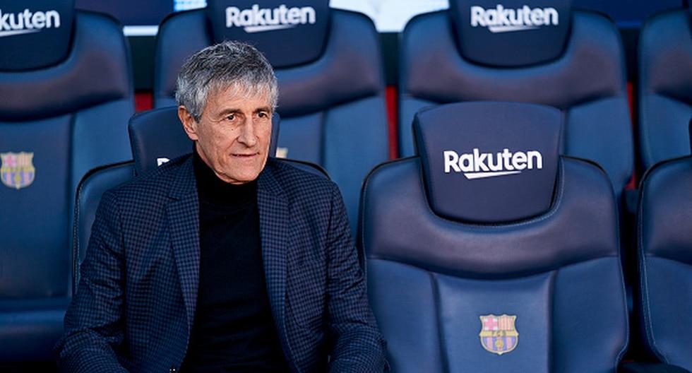 Quique Setién tiene contrato con el FC Barcelona hasta 2022. (Foto: Getty)
